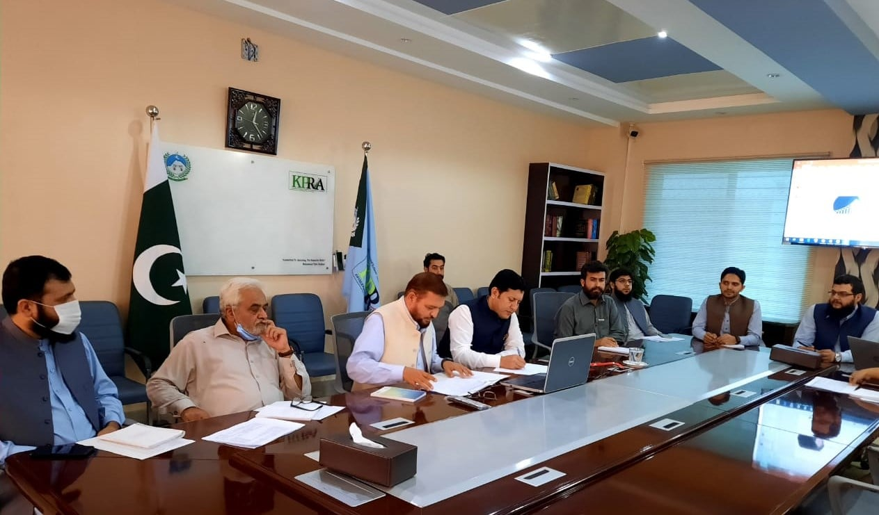 Khyber Pakhtunkhwa Finance Minister Taimur Khan Jhagra  is presiding first quarter review meeting of KPRA via video conference.
