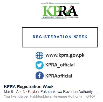 The KPRA Registration Week has been postponed