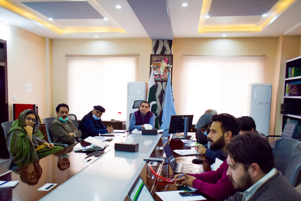 Director Administration and Human Resource KPRA Mr. Haleem Khan chairing internal meeting of the Authority to review the tasks assigned to its various sections.