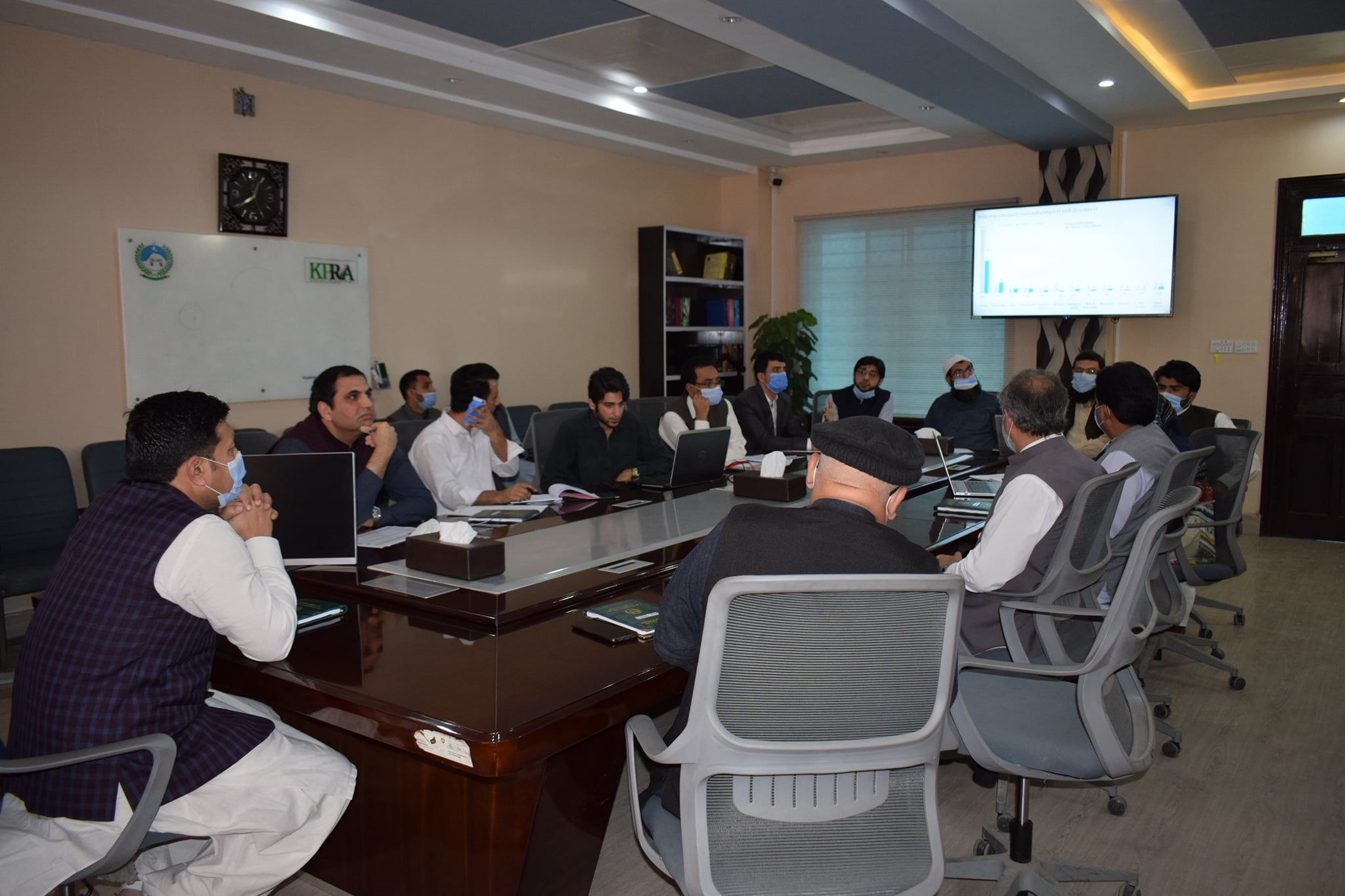 Internal Review Meeting of Revenue Collection of the Authority